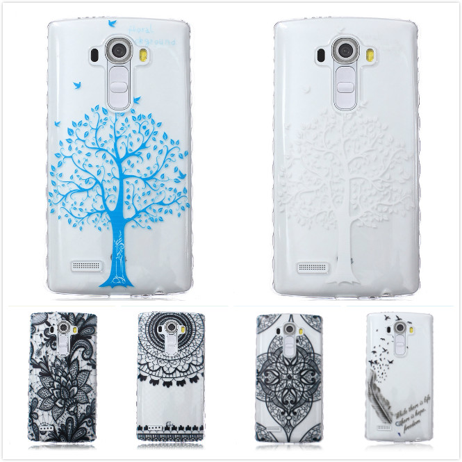 Slim Printing Cartoon Cute Owl Bear Flower Soft TPU Clear Phone Case for LG G4 H815 H810 H811 VS986 LS991 Silicone Back Cover(China (Mainland))