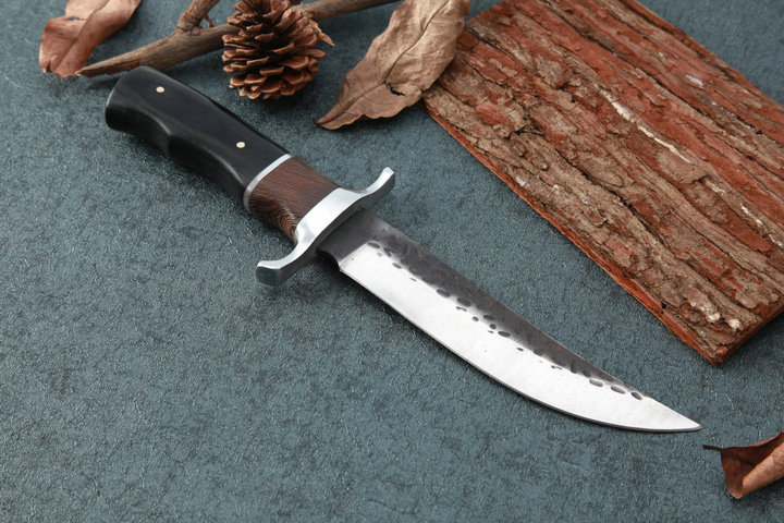 Buy Fixed Blade Knives Outdoor Bowie Knife 5CR15MOV Blade Utility Tactical Hunting Knives Camp Straight Knives High Quality EDC Tool cheap