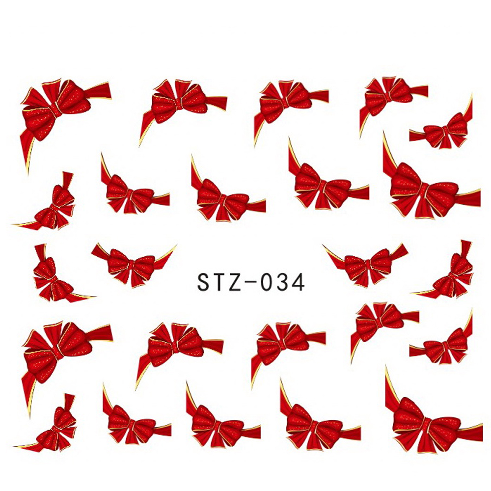 1 sheets Fancy Red Butterfly Tie Sweets Casual Nail Decals Stickers Water Mark Beauty Decorations Foils French Tips Tools STZ034(China (Mainland))