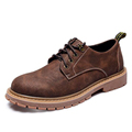 Mens Plus Size 45 British Men Casual Scrub Shoes Flats Fall Fashion Loafers Male Logging Shoes