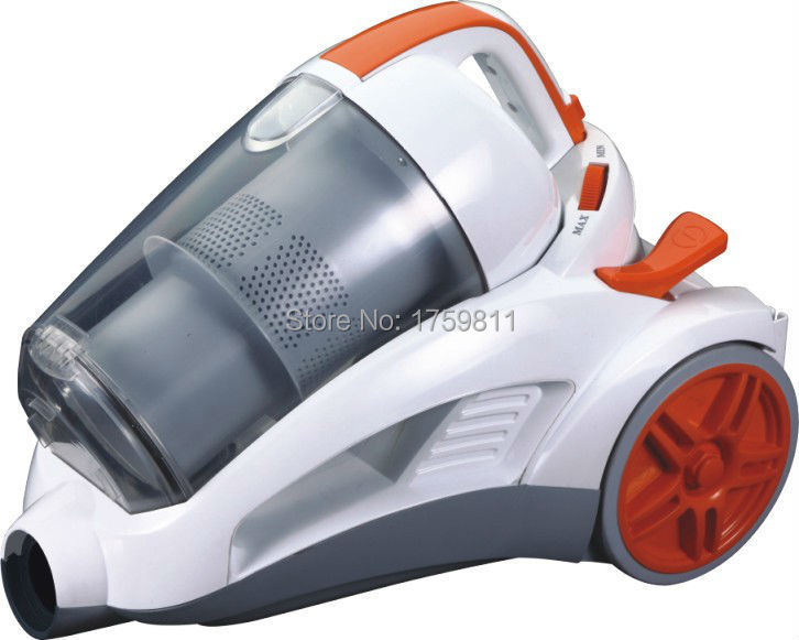2015 New Design Bagless Powerful Cyclonic Vacuum Cleaner for Household MD-702 White-Orange Free Shipping(China (Mainland))