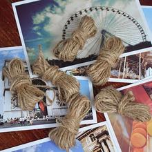 2.5mm Natural Burlap Hessian 10M Jute Twine Rope Cord For Wedding Party DIY Handmade Accessory Craft rustic wedding scrapbooking(China (Mainland))