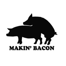 """Wholesale 20pcs/lot """"Making Bacon""""Lettering Art Pattern Funny Pig Sex Car Sticker for Truck SUV Motorcycles Laptop Vinyl Decal(China (Mainland))"""