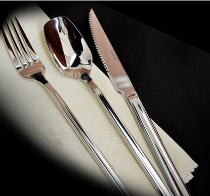 Buy Free Shipping! 2016 New Christmas stainless steel tableware wedding cutlery flatware set spoon tea fork knife dinning set cheap