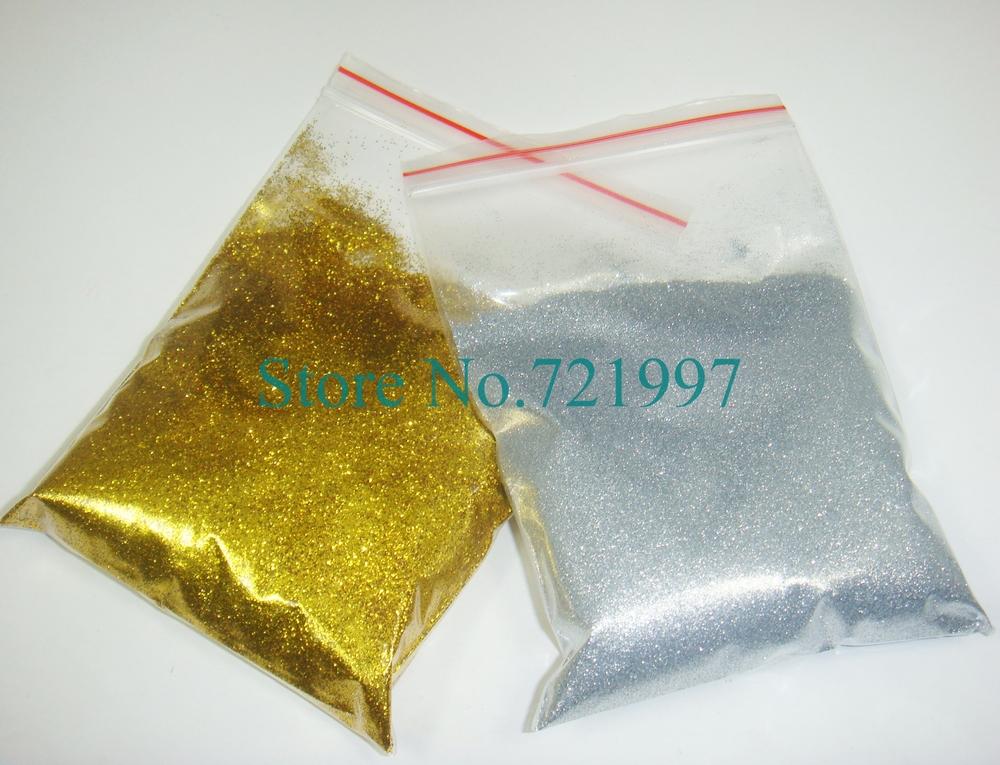 50g x Gold & Silver Colors Shining Nail Glitter Dust Powder for Nail Art DIY decoration-Free Shipping(China (Mainland))