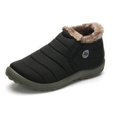 Su geçirmez Kadın Kış Ayakkabı Çift Unisex Kar Botları Sıcak Kürk Antiskid Alt Tutmak Sıcak Anne günlük çizmeler Size35-48(China)