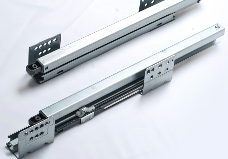 Concealed drawer slide rail track damping pumping underpinning(China (Mainland))