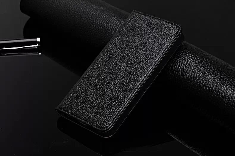 Litchi Texture Luxury Case For Apple iPhone 5 Genuine Leather Flip Cover Book Wallet Case For Fundas iPhone 5s Phone Bags Shell