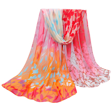 Good Deal New Women Design Printed Soft Chiffon Shawl Wrap Wraps Flower Print Long Scarf Scarves Gift 1PC(China (Mainland))