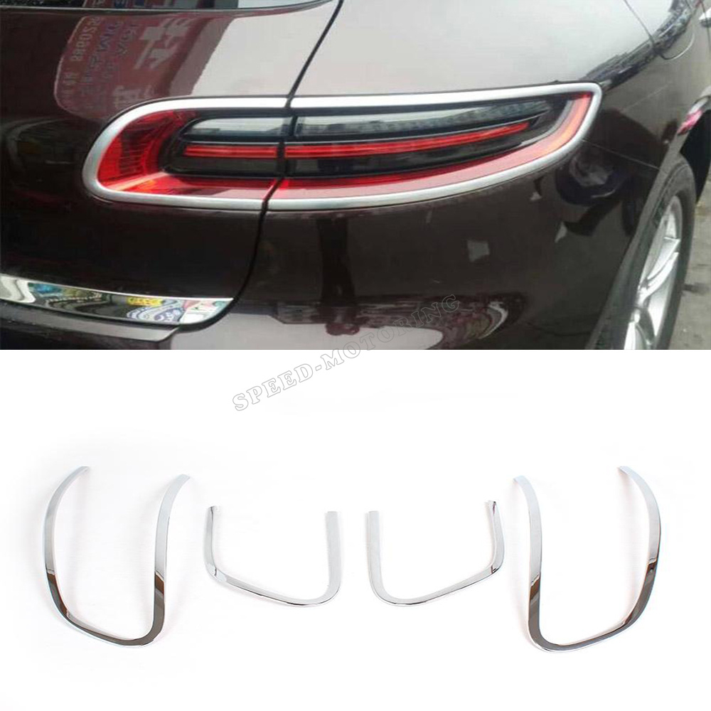 ABS Chrome rear lamps chrome Cover trims, Car tail lights mask For Porsche (fit for Porsche Macan 2014 up)(China (Mainland))