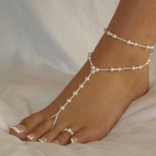 1pc Unique Nice Fashion Sexy Women Pearl Bead Ankle Chain Anklet Bracelet Foot Jewelry Sandal Beach Free Shipping