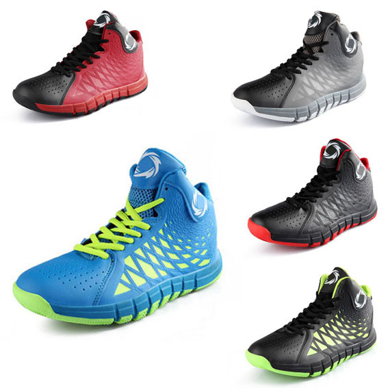 Professional Men Basketball Shoes Breathable Absorbing Shock and protecting the ankle 5 Color Sport Basketball Shoes Hyperdunks(China (Mainland))