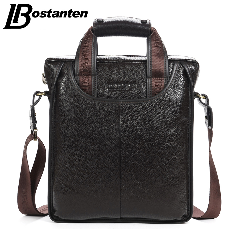 Bostanten Genuine Leather Man Bag Business Crossbody Bags Portable Briefcase Laptop Handbag Casual Purse Sacoche Homme Marque(China (Mainland))