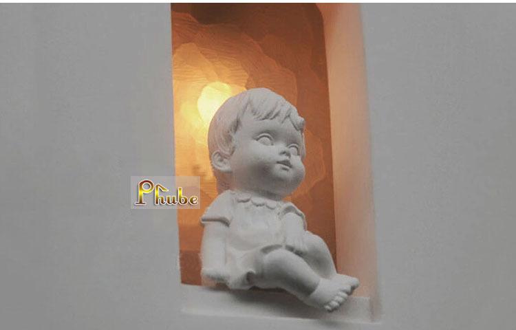 Niños habitación del pasillo escaleras tallada cabecera pared de ...