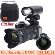 PROTAX D7300 digital cameras 33MP Professional DSLR cameras 24X Optical Zoom Telephotos& 8X Wide Angle Lens LED Spotlight Tripod(China (Mainland))