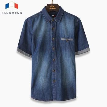 Бренд мужчины 100% хлопок деним рубашки приталенный подходящие camisa masculina винтажный ...