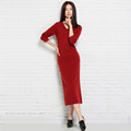 Longer Plus size Winter spring Dress Women Cashmere Knitted Pullovers ladies Fashion New Dresses Gilr Clothing