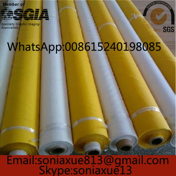 Fast Delivery!255mesh/100T Yellow 127cm100T 30 meter Polyester Silk Screen Printing Mesh(China (Mainland))