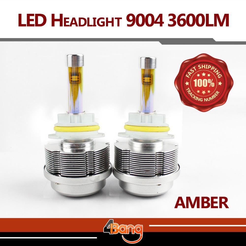 Фотография 2015 Newest G2S ETI LED 9004 Hi/Lo Beam 30W 3600LM Car Headlight Kit Fog Lamp 60W 7200LM Amber Bulb 3000K Yellow ALL IN ONE