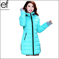 New Winter & Autumn Wear 2015 Thick Hooded Coat Women Long Down Jacket Cotton Coats EF882