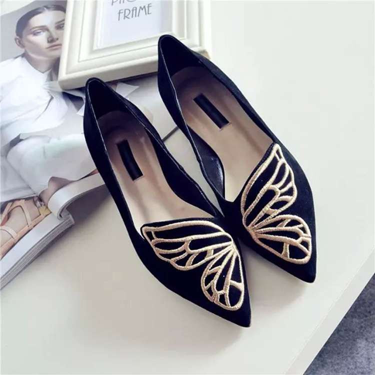 Fashion Butterfly Shoes Woman Flat Oxford Shoes For Women Black Pink Slip On Loafers Luxury Designer Shoes Ladies Flat Shoes (3)