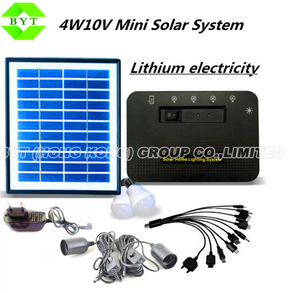4w energy storage power | solar power | small solar system | solar generator Family Lighting For Camping / Hiking / Home Use(China (Mainland))