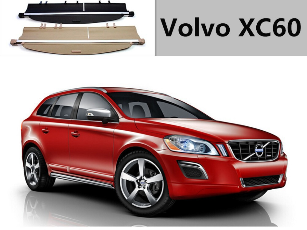 Highquality! Rear Trunk Security Shield Cargo Cover trunk shade security cover for Volvo XC60 2010-2013.2014.Shipping