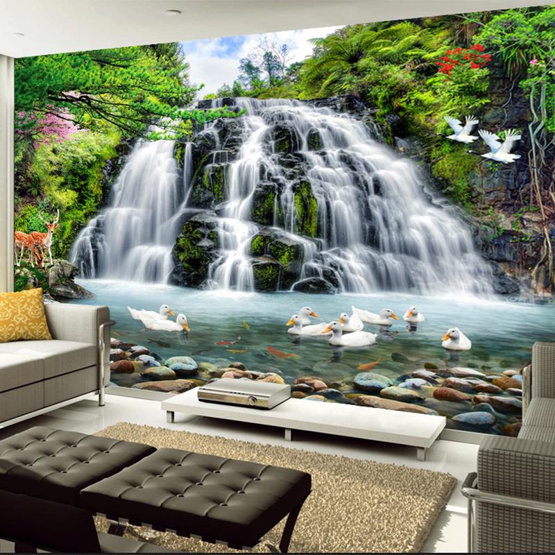 Online get cheap photo waterfalls for Custom mural wallpaper uk