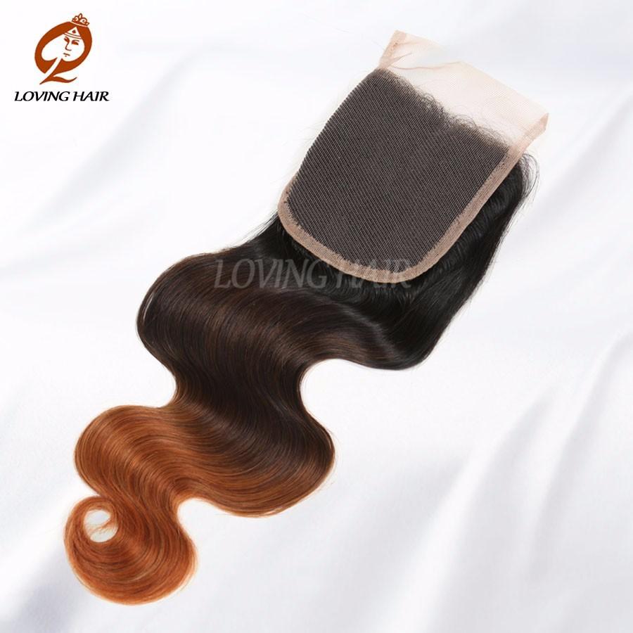 100 Human Hair Product Unprocessed Virgin Malaysian Ombre Lace Closure 4*4 Malaysian Lace Closure Body Wave Hair Weaves