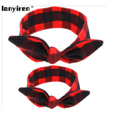 1Set DIY Mother Lovely Bow Cotton Mon And Kids Headhand Hair Accessories Rabbit Ears Headband Hair Bands(China (Mainland))