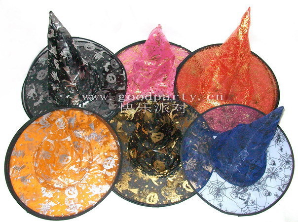 Halloween hat wizard hat magic cap witch hats color(China (Mainland))