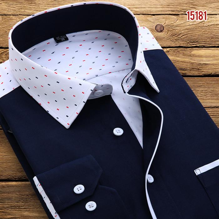 Blue Polka Dot Dress Shirt Polka Dot Dress Shirt Slim