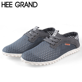 Hot Sale Men Summer Flats Fashion Casual Breathable Mesh Shoes for Men Simple Fashion Shoes Drop Shipping 584