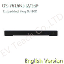 In stock Original Overseas DS-7616NI-I2/16P 8CH NVR Support H.265/H.264/MPEG4 video formats(China (Mainland))