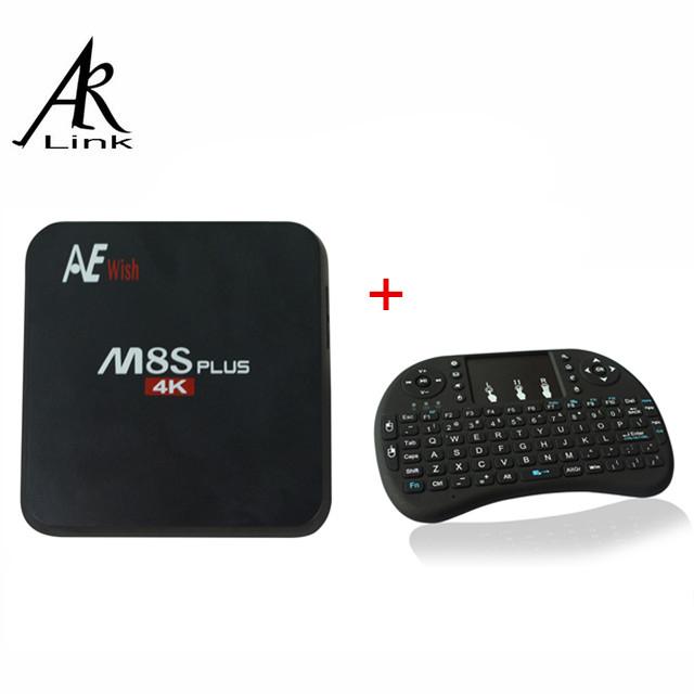 Anewkodi Android 5.1 TV Box M8S Plus Amlogic S905 Quad Core 2G/16G Kodi Pre-install 4K H.265 2.4G&5G WiFi Air Mouse Keyboard(China (Mainland))