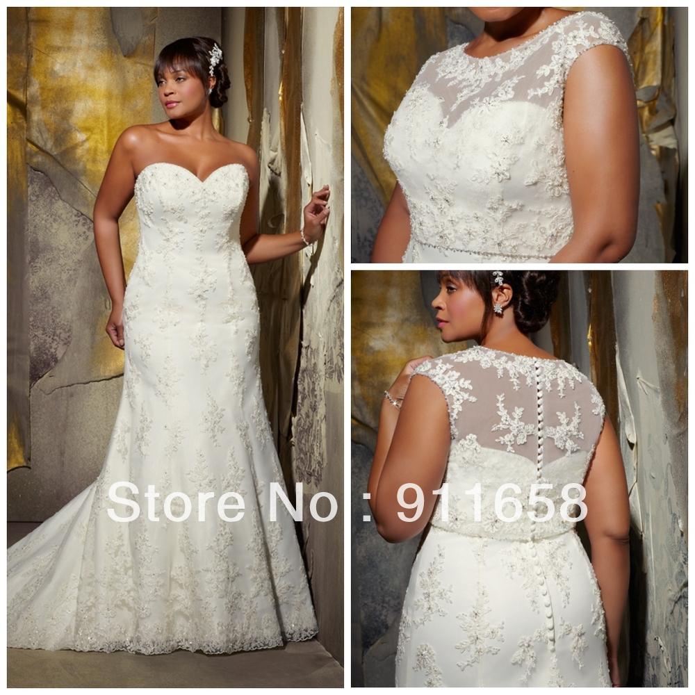 Sweetheart Lace Applique Princess Court Train Mermaid ... Lace Mermaid Wedding Dress 2013