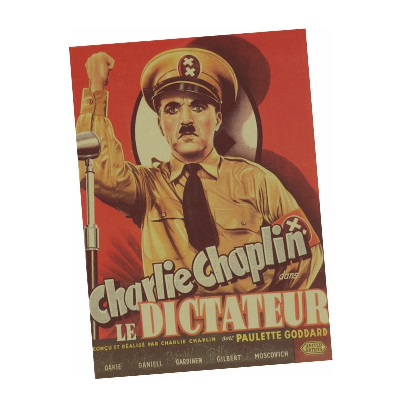 The Great Dictator paper Poster Dictator Adenoid Hynkel tries to expand his empire while a poor Jewish barber 1940(China (Mainland))