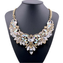 Buy 2016 New Hot Fashion Necklaces & Pendants Multi-color Crystal Bib Statement Necklace Water Dop Crystal Necklace Vintage Jewelry for $5.09 in AliExpress store