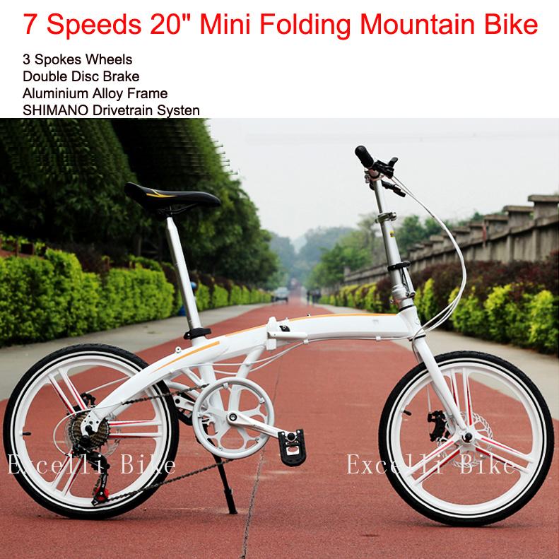 7 Speeds 20' Folding Bike 3 Spokes wheels Mini Bicicleta Plegable Mountain Bike Mountain Bicycle City Bicicletas Child Bycicle(China (Mainland))