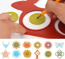 Más nuevo Spirograph magia tortuga conejo de dibujos regalo de los cabritos educativos del tablero de dibujo juguetes Mat Magic Pen educativo juguete de agua(China (Mainland))