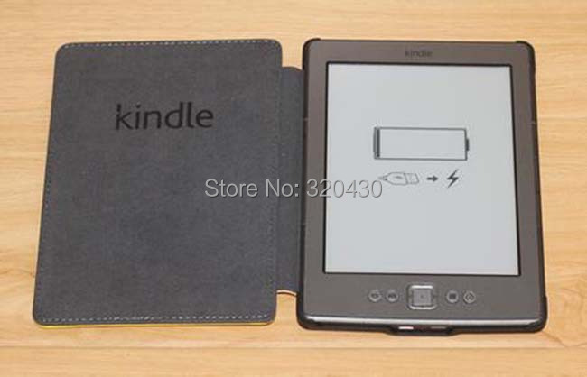 Advanced Leather Cover Sleeve Case with healthy high quality book case for Amazon Kindle 5 Kindle