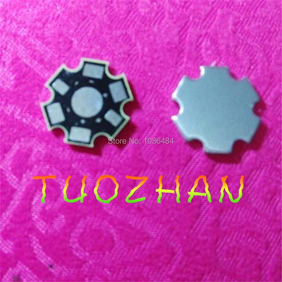 100pcs/lot 1W 3W 5W High Power LED Heat Sink Aluminum Base Plate(China (Mainland))