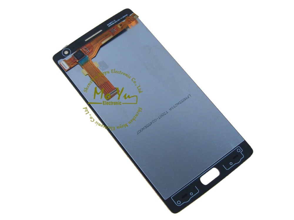 Black For OnePlus TWO 1+2 A0001 Official LCD Screen Display with Digitizer Toch Assembly Test Everyone(China (Mainland))