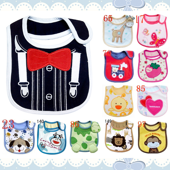 Multi Layers Cartoon Baby Bibs Waterproof Scarf Saliva Apron Towel Accessories Clothing For Infant Kid ZHI036(China (Mainland))