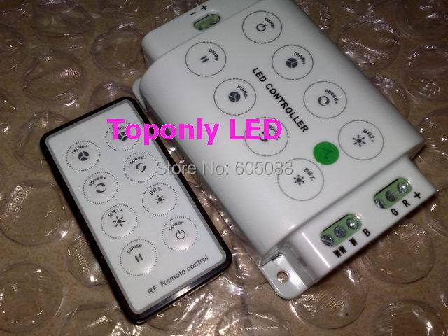 DC12/24v compatible 4-in-1 rgbw led remote controller with touch interface + 8-keys RF remote control panel CE&ROHS hot selling(China (Mainland))