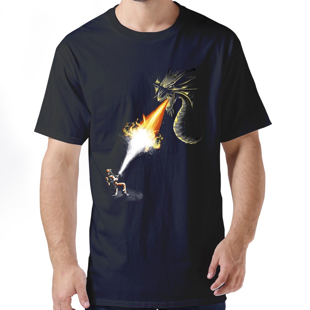 Hot Topic Screw Neck men's Latest 2015 a firefight tees shirt Men's t-shirt Hot Selling(China (Mainland))