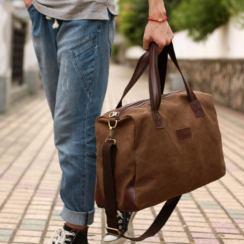 New 2015 Fashion Men Handbag Canvas Large Capacity Men
