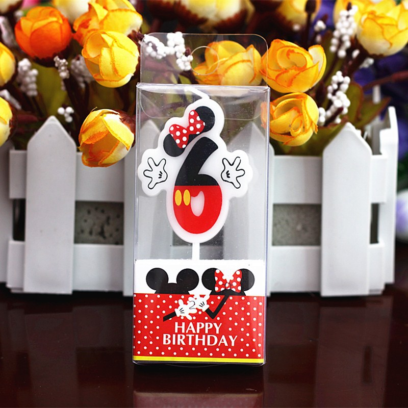 Romantic Courtship Props Candle Children Smoke-free Creative 0-9 Digital Birthday Cake Cartoon Shape Candles Party Decoration