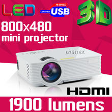 2016 Digital Cinema Home Theater LED LCD Video Portable 1900lumens 800×480 Mini Game 3D Projector Beamer Proyector HDMI USB AV