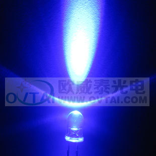20Super Bright 5MM Purple LED , Round Lamp Diode ,wavelength 425-430nm,5000-8000MCD - Shenzhen Ou Weitai photoelectric Co Ltd store